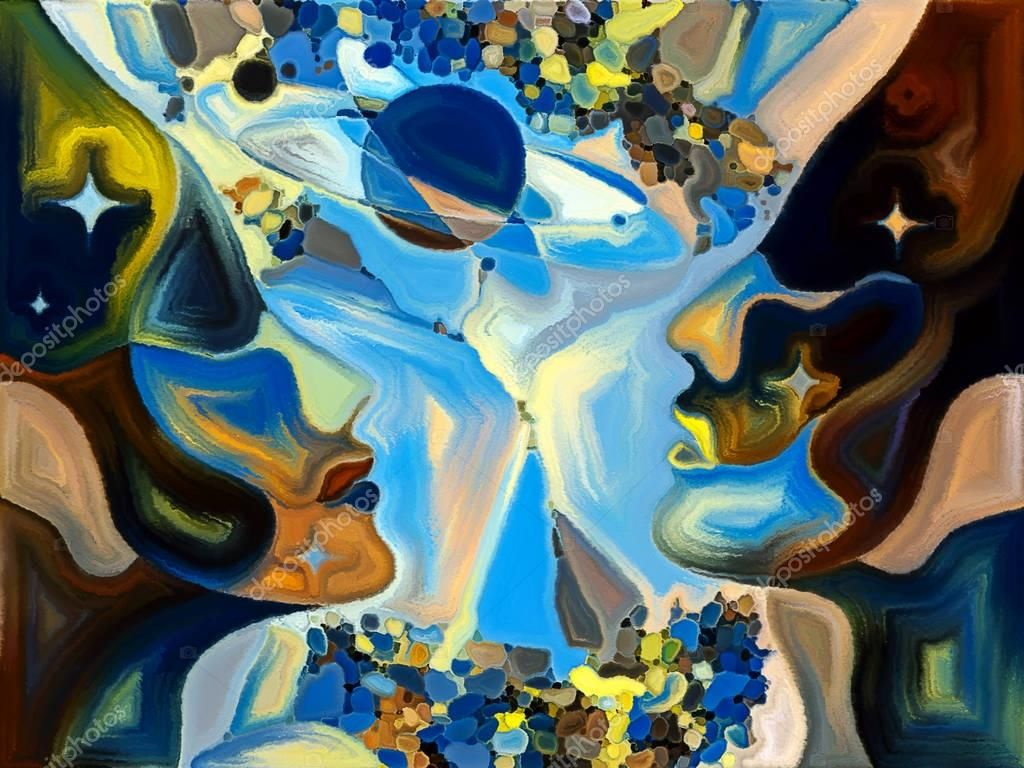Abstrakt landskabsmaleri